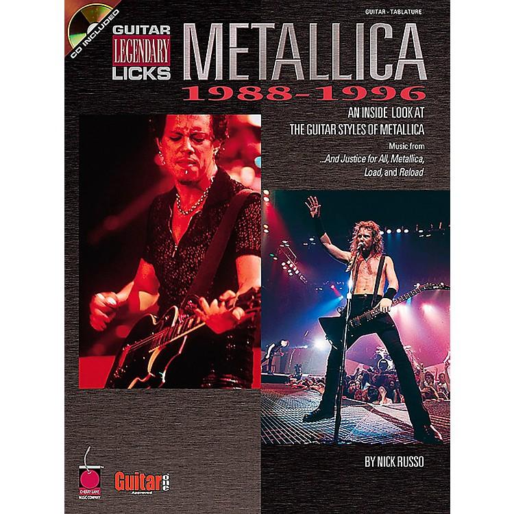Cherry LaneMetallica Guitar Legendary Licks 1988-1996 Book with CD
