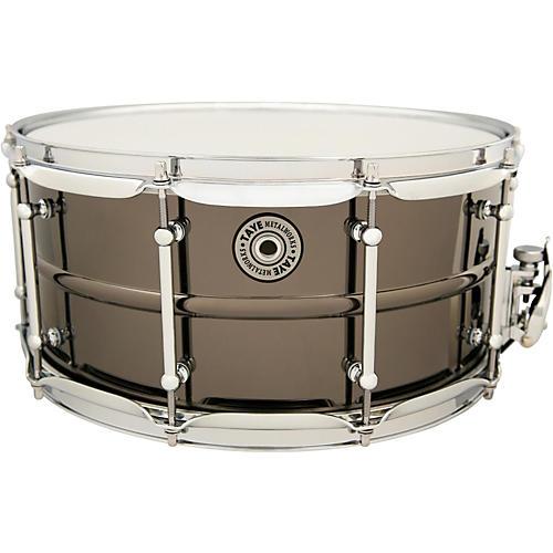 Taye Drums Metalworks Vintage Brass Snare 14 x 6.5 Black Nickel Finish