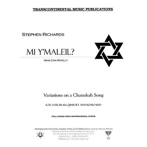 Transcontinental Music Mi Y'maleil? (Who Can Retell?) Full Score arranged by Stephen Richards-thumbnail