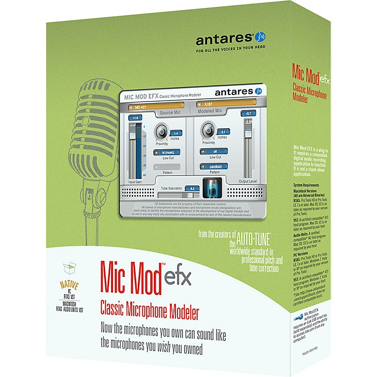 Antares Mic Mod EFX Classic Microphone Modeler with Free Choir registration code