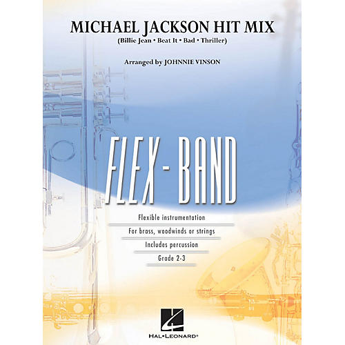 Hal Leonard Michael Jackson Hit Mix Concert Band Level 2-3 by Michael Jackson Arranged by Johnnie Vinson-thumbnail