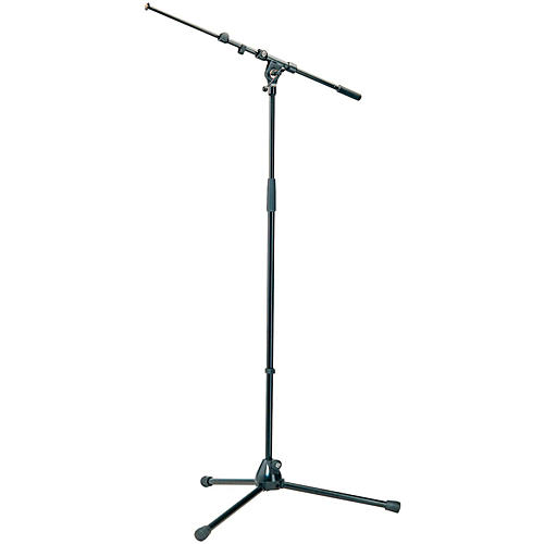 K&M Microphone Stand with Telescoping Boom Arm