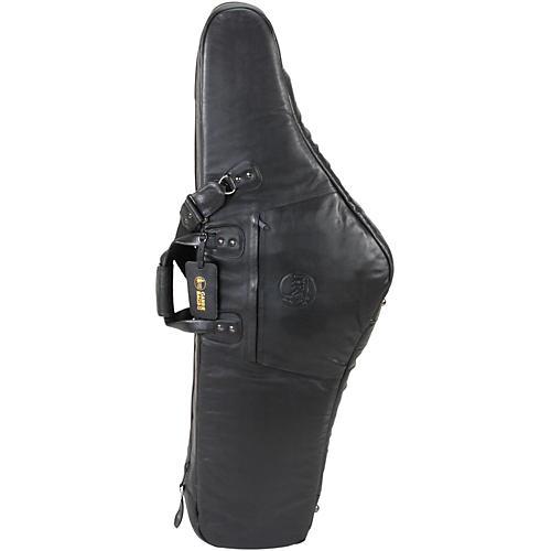 Gard Mid-Suspension AM Low Bb Baritone Saxophone Gig Bag 107B-MLK Black Ultra Leather