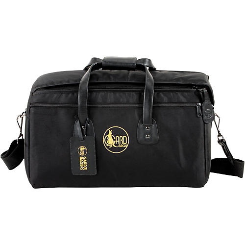 Gard Mid-Suspension Triple Trumpet Gig Bag 7-MSK Black Synthetic w/ Leather Trim