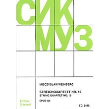 Sikorski Mieczslaw Weinberg - String Quartet No. 15, Op. 124 String Series Softcover by Mieczyslaw Weinberg