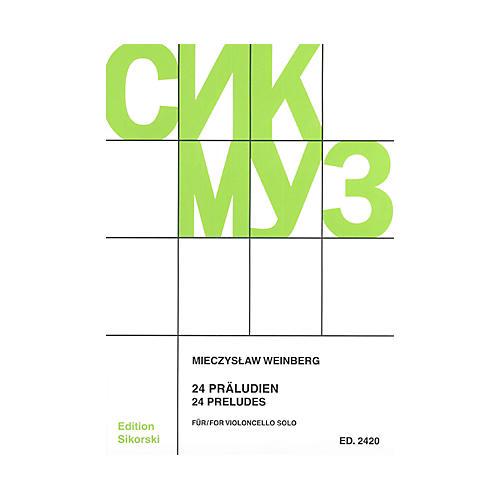 Sikorski Mieczyslaw Weinberg - 24 Preludes (Violoncello) String Series Softcover