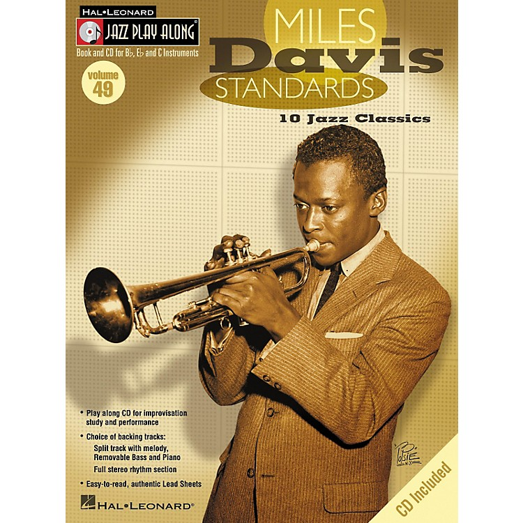 Hal Leonard Miles Davis Standards - Jazz Play Along Volume 49 Book with CD