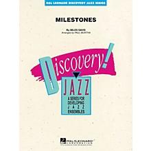 Hal Leonard Milestones Jazz Band Level 1-2 by Miles Davis Arranged by Paul Murtha