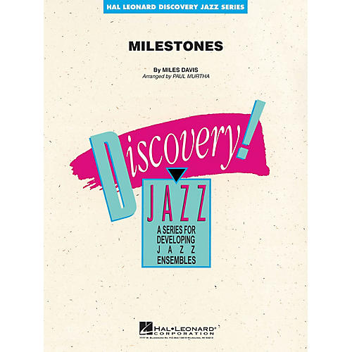 Hal Leonard Milestones Jazz Band Level 1-2 by Miles Davis Arranged by Paul Murtha-thumbnail