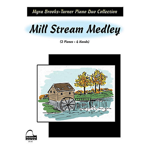 SCHAUM Mill Stream Medley (2 Pianos) Educational Piano Series Softcover-thumbnail