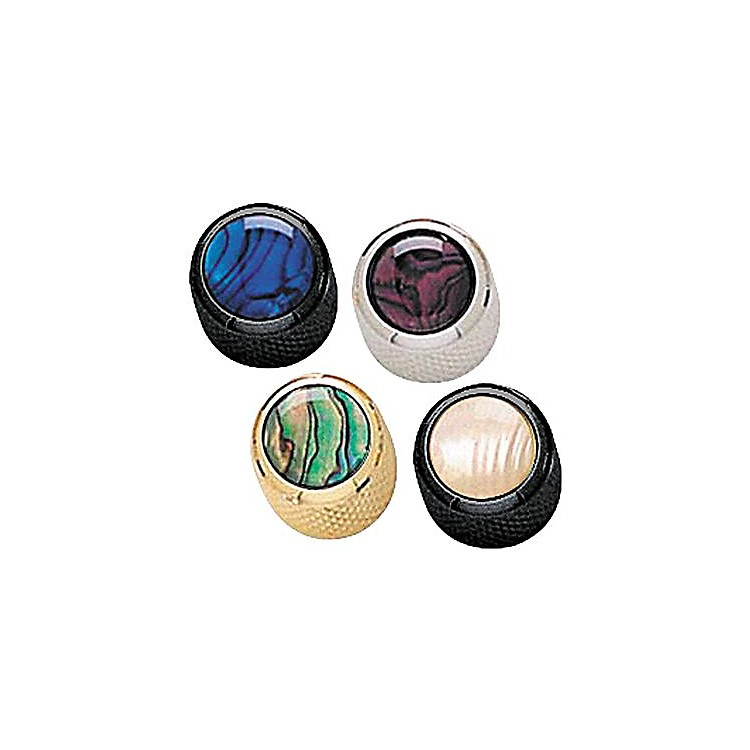 Q Parts Mini-Dome Knob Single Chrome Blue Abalone