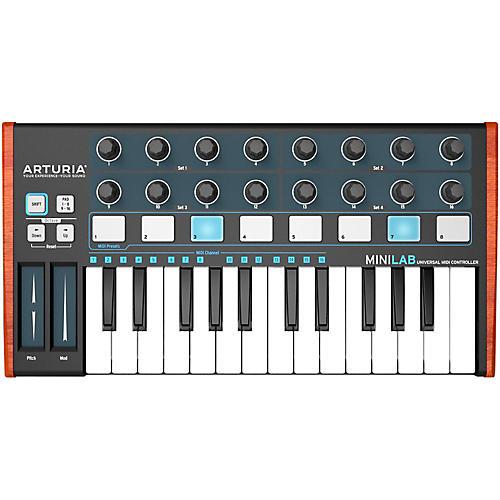 Arturia MiniLab Mini Hybrid Keyboard Controller Black Edition-thumbnail