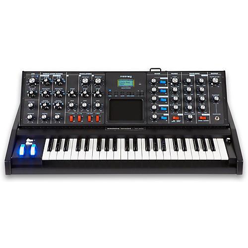 Moog Minimoog Voyager Electric Blue Analog Synthesizer-thumbnail