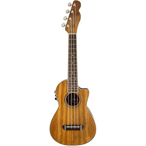 Fender Mino'Aka Koa Cutaway Concert Acoustic-Electric Ukulele
