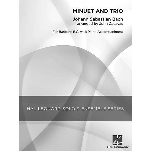 Hal Leonard Minuet and Trio (Grade 2.5 Baritone B.C. Solo) Concert Band Level 2.5 Arranged by John Cacavas-thumbnail