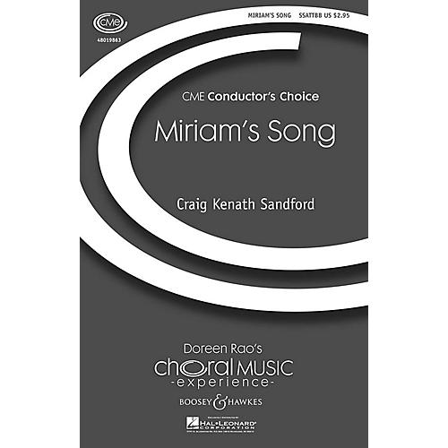 Boosey and Hawkes Miriam's Song (CME Conductor's Choice) SSATTBB composed by Craig Kenath Sandford-thumbnail