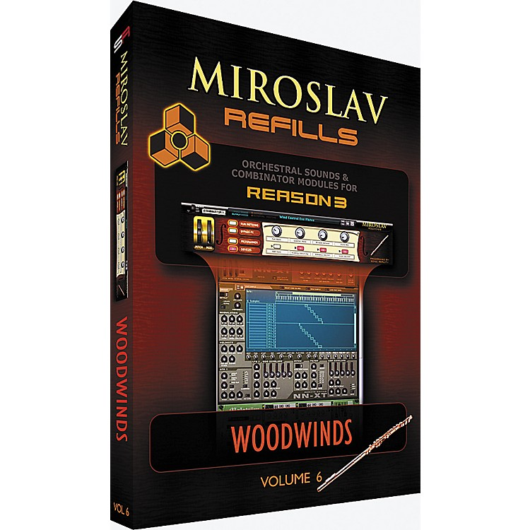 IK MultimediaMiroslav Refills for REASON Volume 6 - Woodwinds