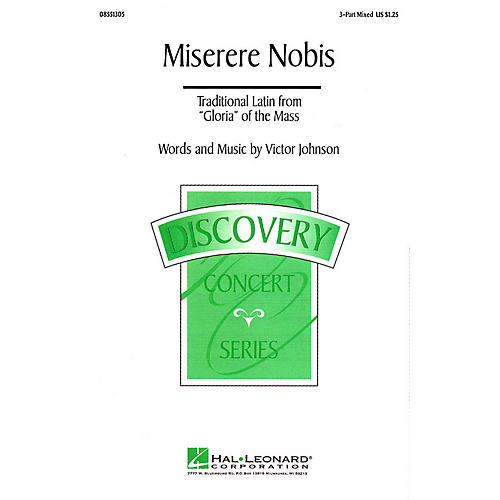 Hal Leonard Miserere Nobis 3-Part Mixed composed by Victor C. Johnson
