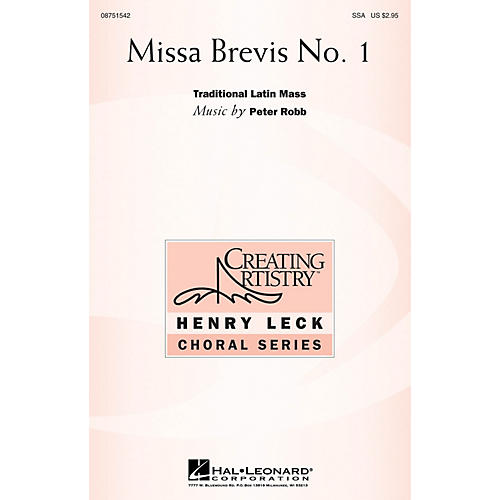 Hal Leonard Missa Brevis No. 1 SSA composed by Peter Robb-thumbnail