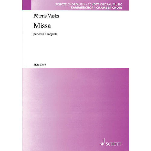 Schott Missa SATB a cappella Composed by Peteris Vasks-thumbnail
