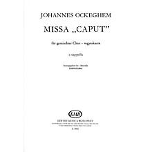 Editio Musica Budapest Missa caput-satb SATB Composed by Johannes Ockeghem