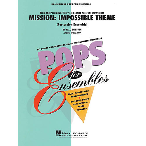 Hal Leonard Mission: Impossible (Percussion Ensemble) Concert Band Level 2-3 Arranged by Will Rapp-thumbnail