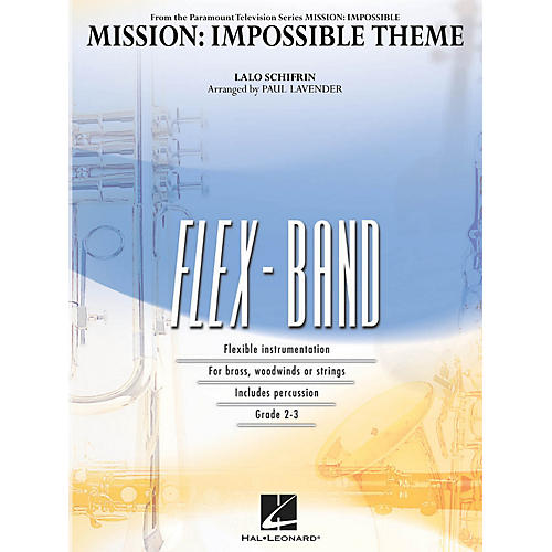 Hal Leonard Mission: Impossible Theme Concert Band Level 2-3 Arranged by Paul Lavender