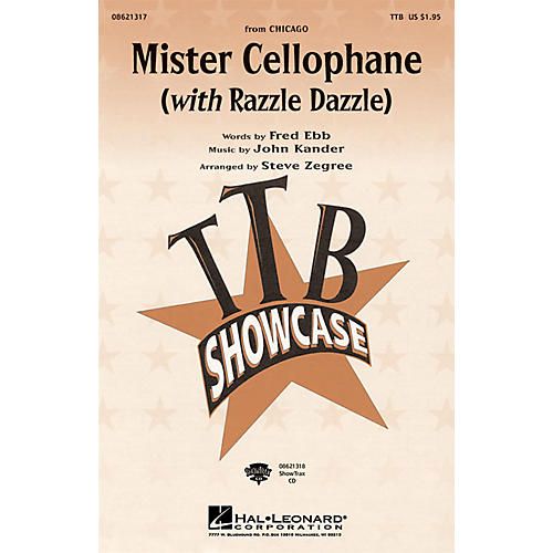 Hal Leonard Mister Cellophane (with Razzle Dazzle) (from Chicago) ShowTrax CD Arranged by Steve Zegree