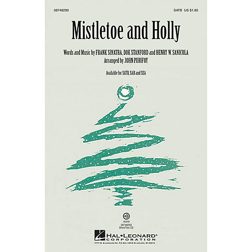 Hal Leonard Mistletoe and Holly SATB by Frank Sinatra arranged by John Purifoy-thumbnail