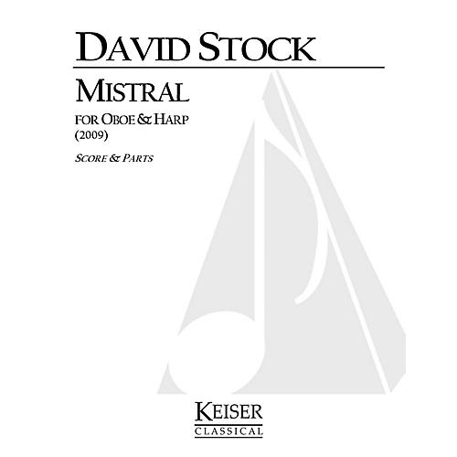 Lauren Keiser Music Publishing Mistral for Oboe and Harp LKM Music Series Composed by David Stock-thumbnail