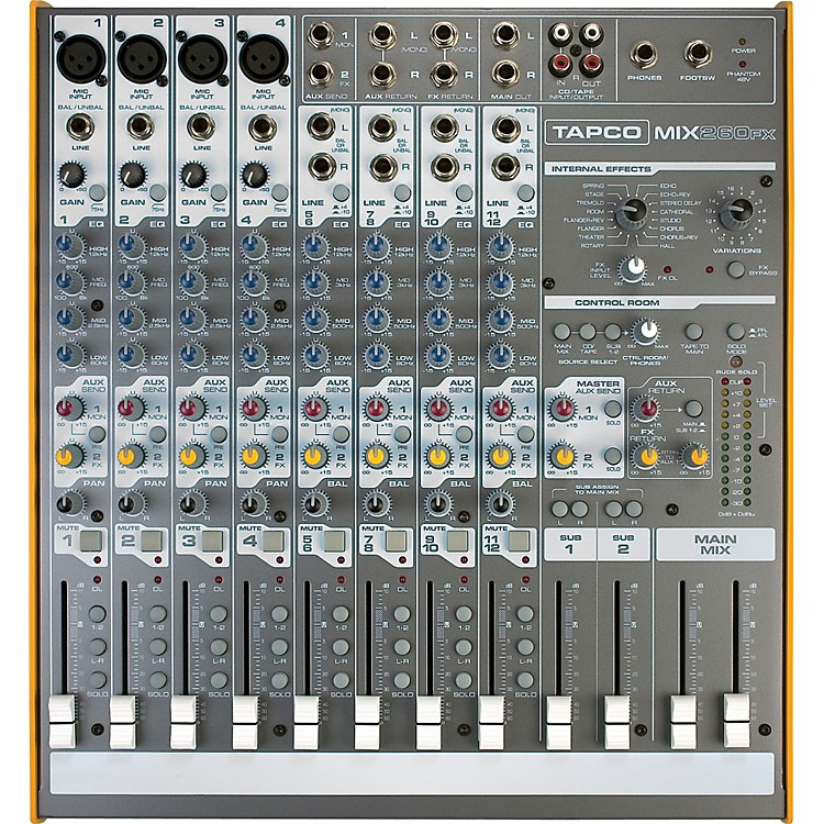TapcoMix.260FX Compact Mixer With Effects