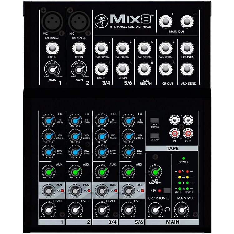 Mackie Mix8 8 Channel Compact Mixer Musician S Friend