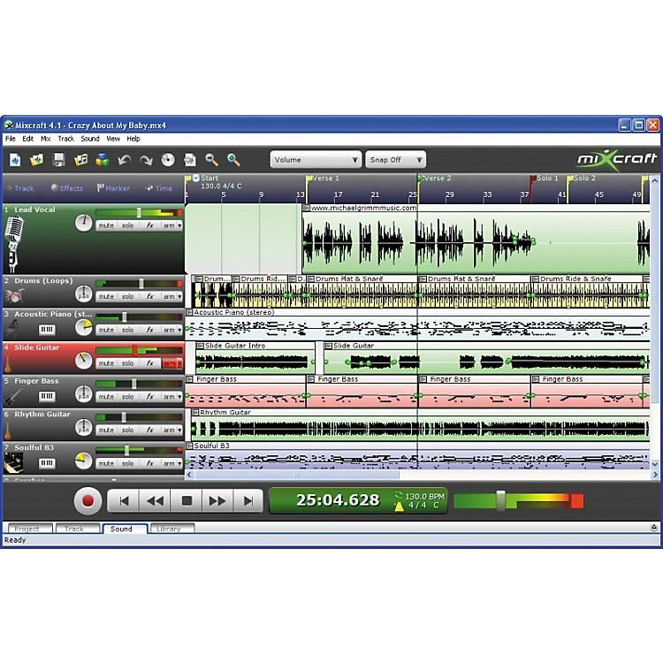 AcousticaMixcraft 4 Multitrack Audio MIDI Recording Software