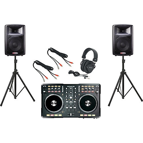 Numark Mixtrack Pro / Harbinger APS12 DJ Package-thumbnail