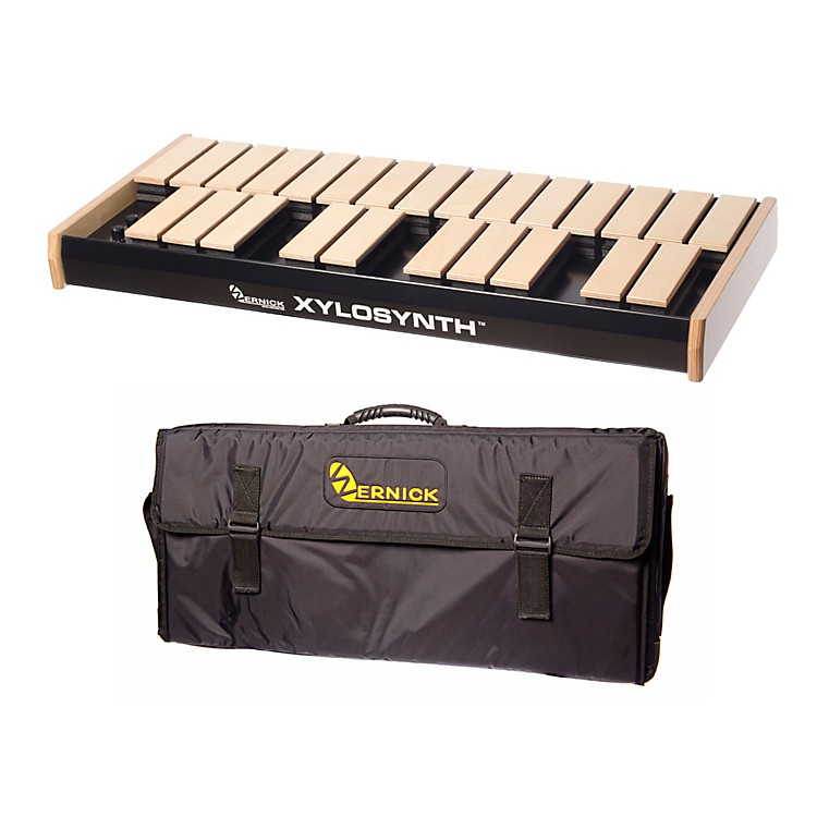 Wernick MkVI Blonde Birch Xylosynth w/Button Control, LED Display and Soft Bag