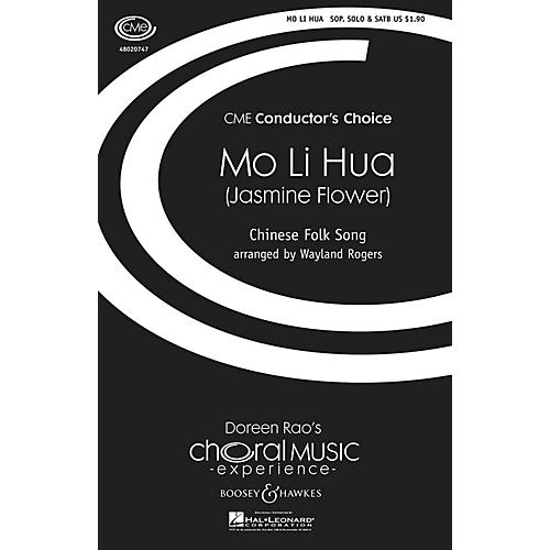 Boosey and Hawkes Mo Li Hua (Jasmine Flower) Chinese Folk Song CME Conductor's Choice SATB arranged by Wayland Rogers-thumbnail