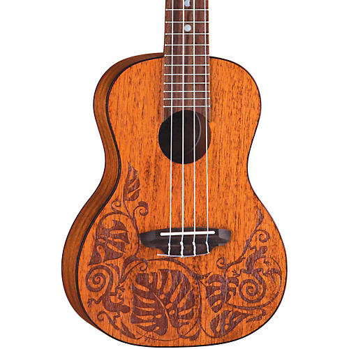 Luna Guitars Mo Mah Concert Ukulele Mahogany Lizard Design