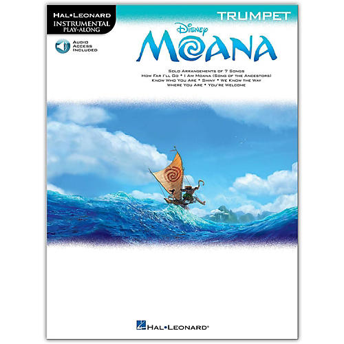 Hal Leonard Moana for Trumpet - Instrumental Play-Along Book/Audio Online-thumbnail