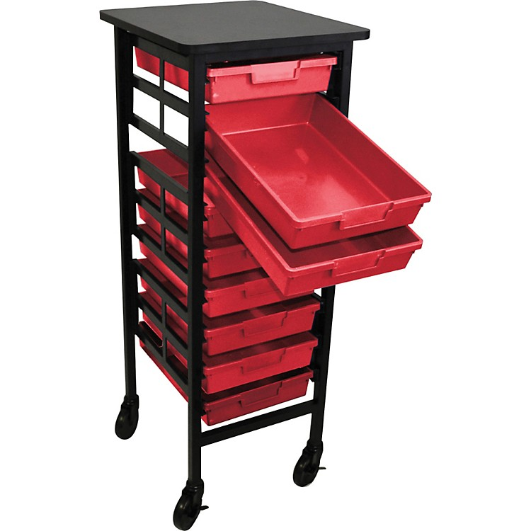 H. Wilson Mobile Workstation/ Storage Unit with 9 Single Storage Trays