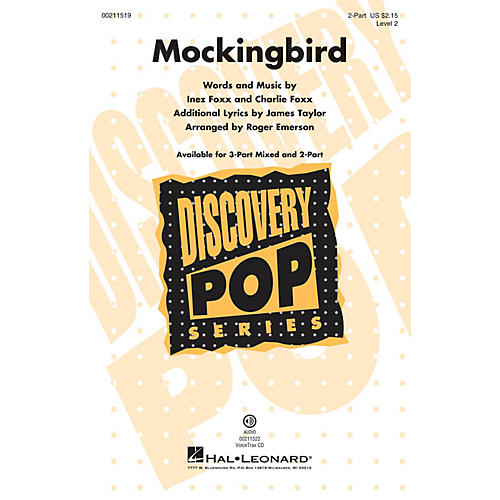 Hal Leonard Mockingbird (Discovery Level 2) 2-Part arranged by Roger Emerson
