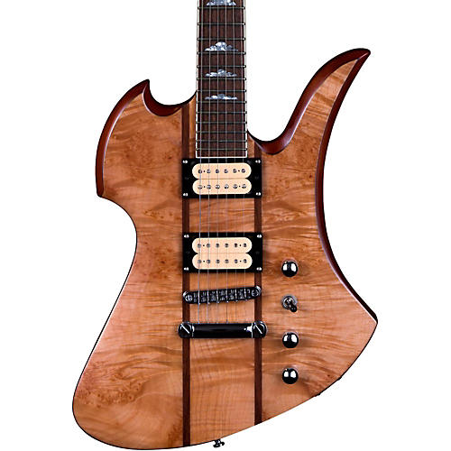 B.C. Rich Mockingbird Neck Through with Maple Burl Top and Dimarzios Electric Guitar-thumbnail