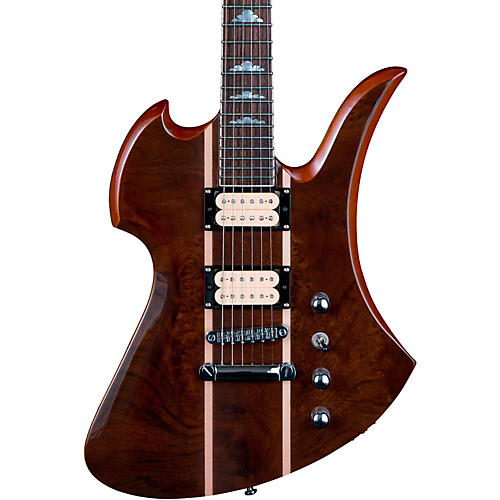 B.C. Rich Mockingbird Neck Through with Walnut Burl Top Electric Guitar-thumbnail