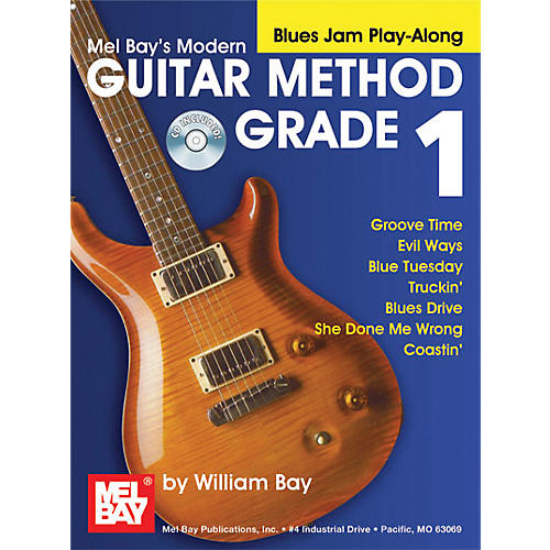 Mel Bay Modern Guitar Method Grade 1 Blues Jam Play-Along Book and CD