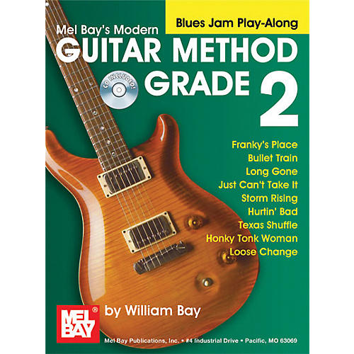 Mel Bay Modern Guitar Method Grade 2 Blues Jam Play-Along Book and CD