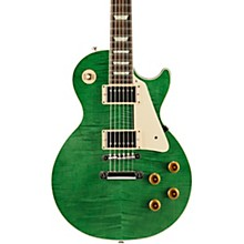 Modern Les Paul Standard Limited Edition Electric Guitar Transparent Green Aged Pearloid Pickguard