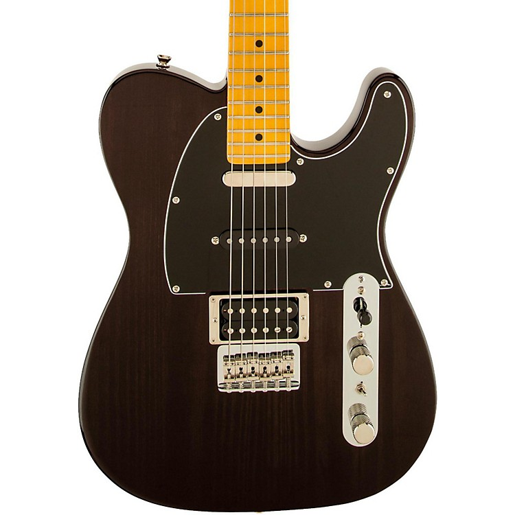 Fender Modern Player Telecaster Plus Electric Guitar Charcoal Transparent Maple Fretboard