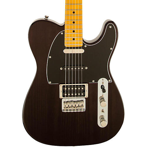 Fender Modern Player Telecaster Plus Electric Guitar Transparent Charcoal Maple Fretboard