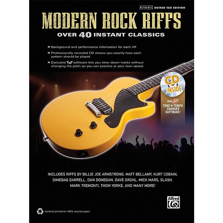 AlfredModern Rock Riffs Guitar Book & CD