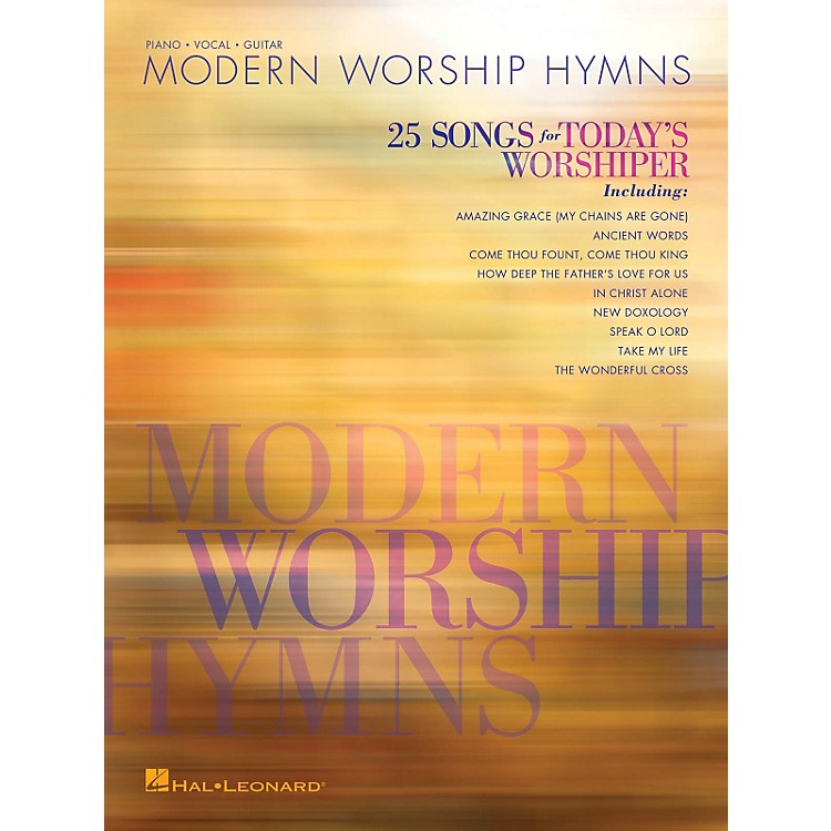 Hal LeonardModern Worship Hymns - 25 Songs for Today's Worshiper Piano/Vocal/Guitar Songbook