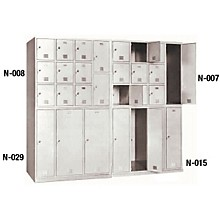 Norren Modular Instrument Cabinets in Bamboo N-007 with 10 Compartments
